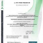 Certificato di POSA in OPERA