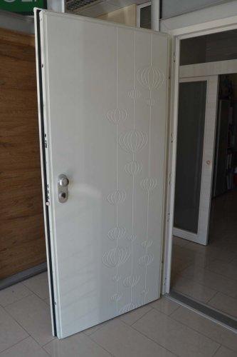 porta blindata Dierre TAblet, ad alto isolamento termico ed acustico, con telaio bianco, rivestimento esterno bianco ve rivestimento interno effetto specchio (3)